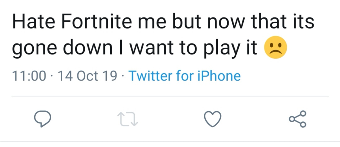 Fornite blackout tweets